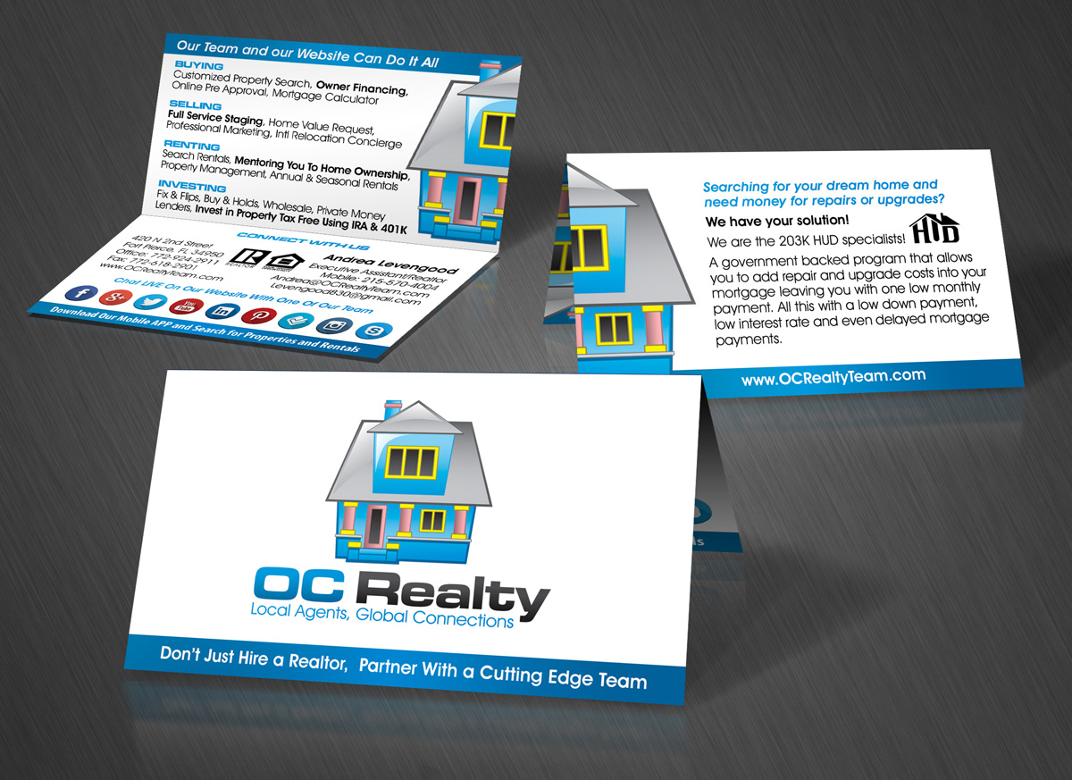 High quality custom business card design and printing jh design oc realty business card design colourmoves