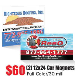 Car Magnet Printing - St Lucie, Stuart, Ft Peirce