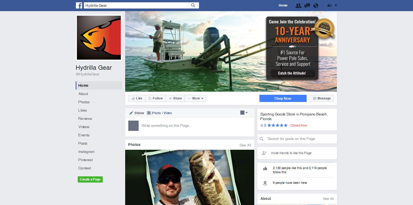 Hydrilla Gear - Social Media Marketing