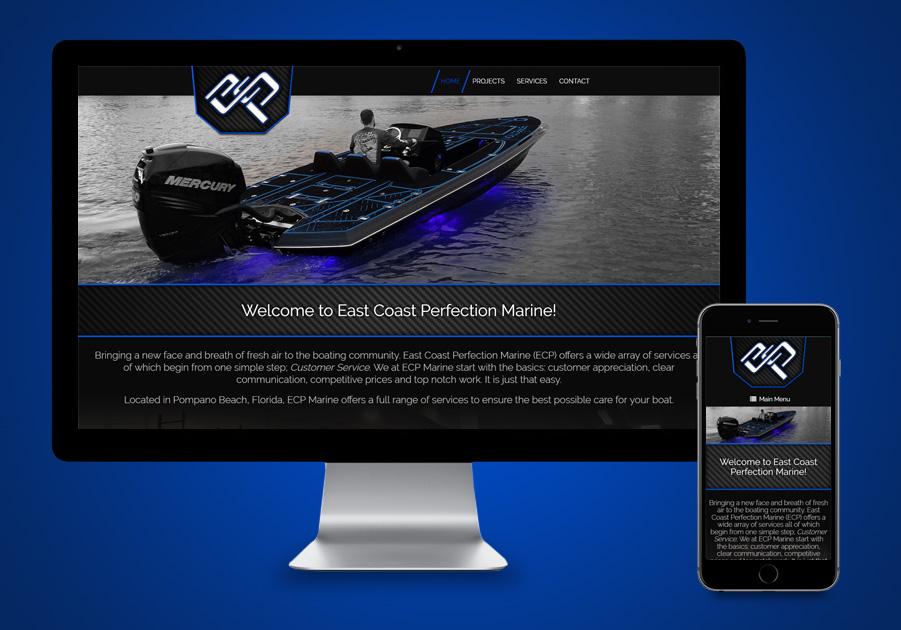 Pompano Website Design - ECP Marine