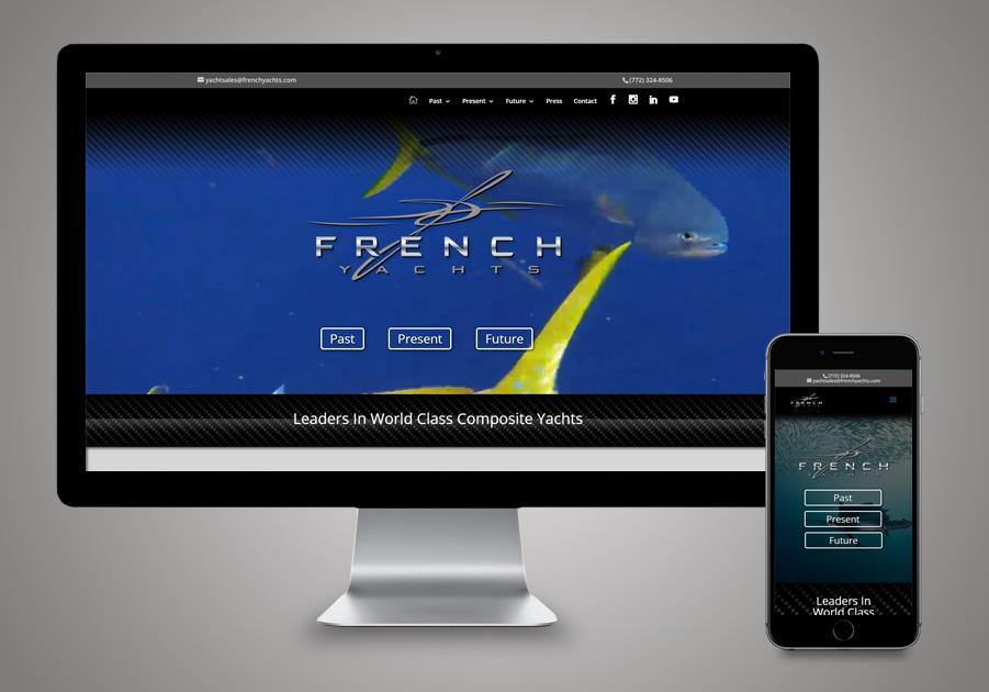 Website Development Stuart, FL - French Yachts