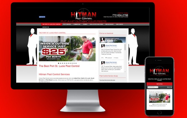 Port St Lucie Web Design - Hitman Pest Control