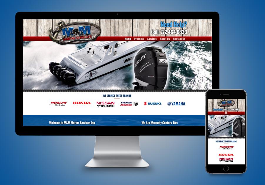 Website Design Fort Pierce, FL - M&M Marine