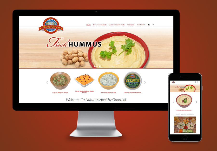 St Lucie County Website Design- Natures Healthy Gourmet