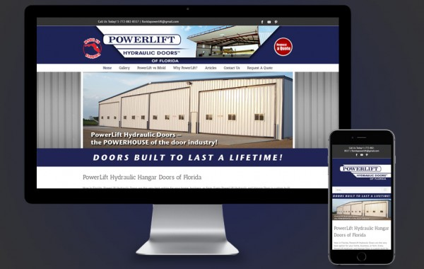 Fort Pierce Website Design - Power Lift Doors