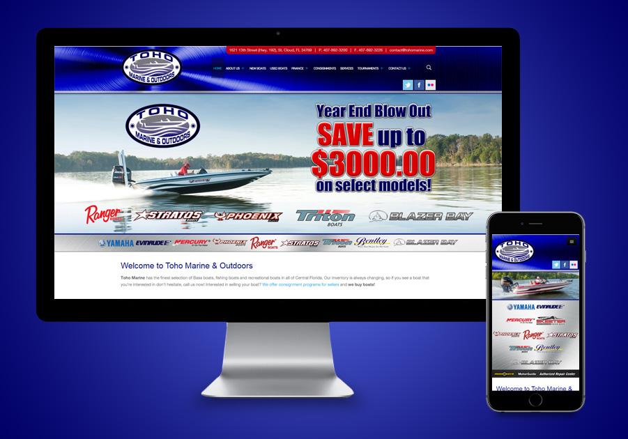 Florida Website Developer - Toho Marine
