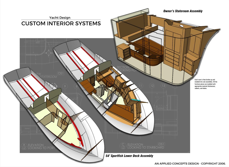 Yacht Design - Furniture Modeling - Florida