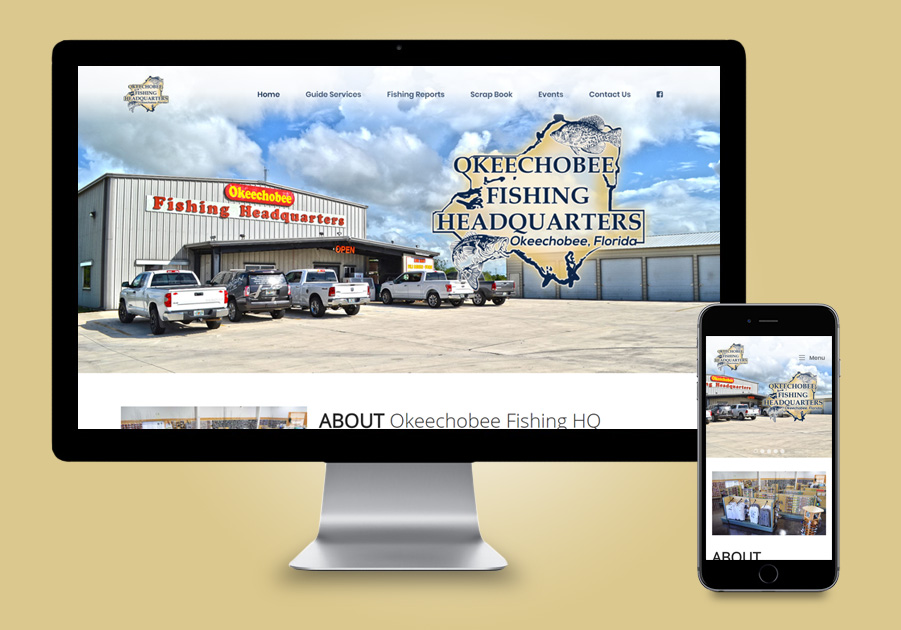 Website Design - Okeechobee Fishing HQ