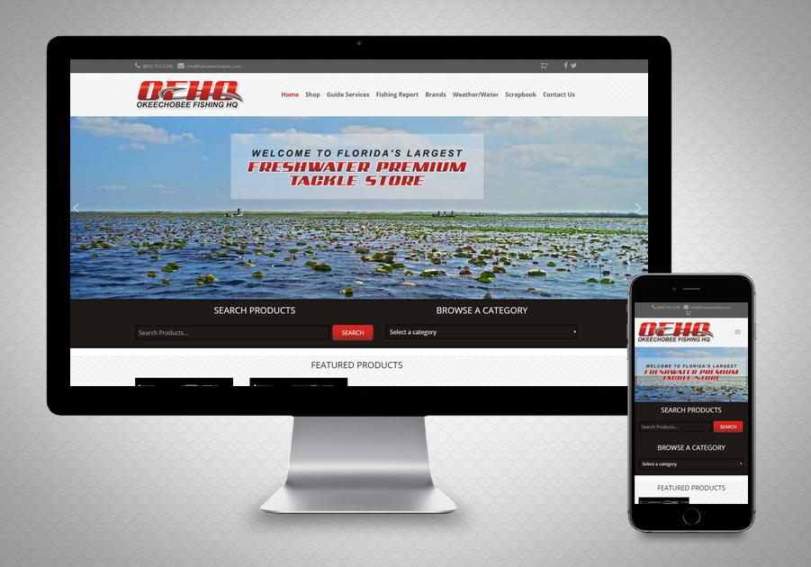 Website Design - Okeechobee Fishing HQ