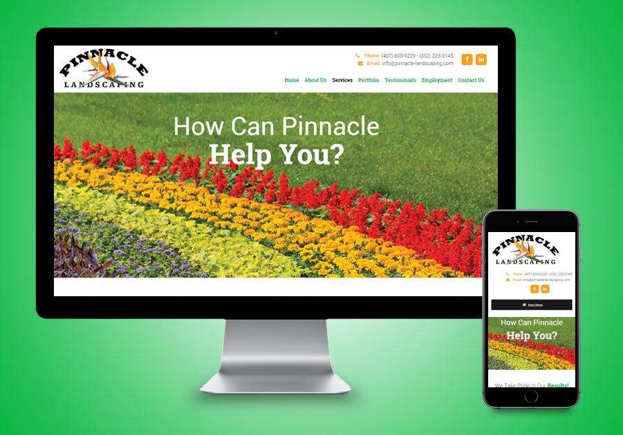 Website Design - Pinnacle Landscaping
