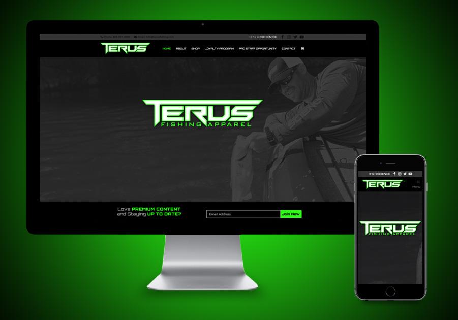 eCommerce Website Design - Terus Fishing Apparel