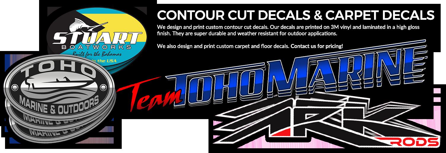 Contour Cut Decals & Carpet Carpet Decals