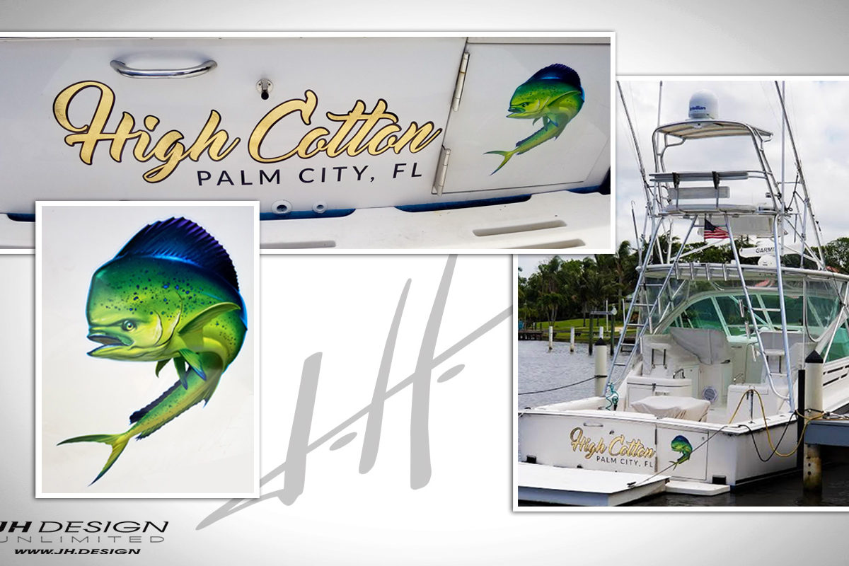 Boat Lettering in Palm City Florida