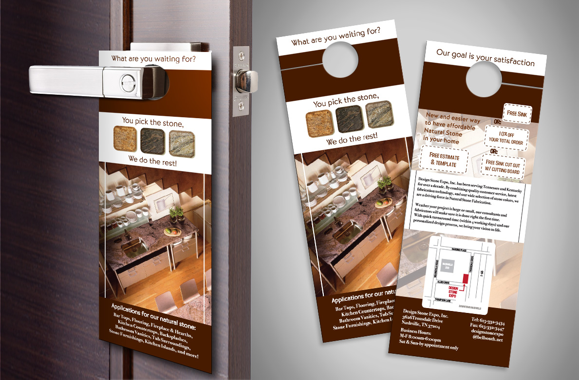 Custom Door Hanger Design And Printing Services Jh