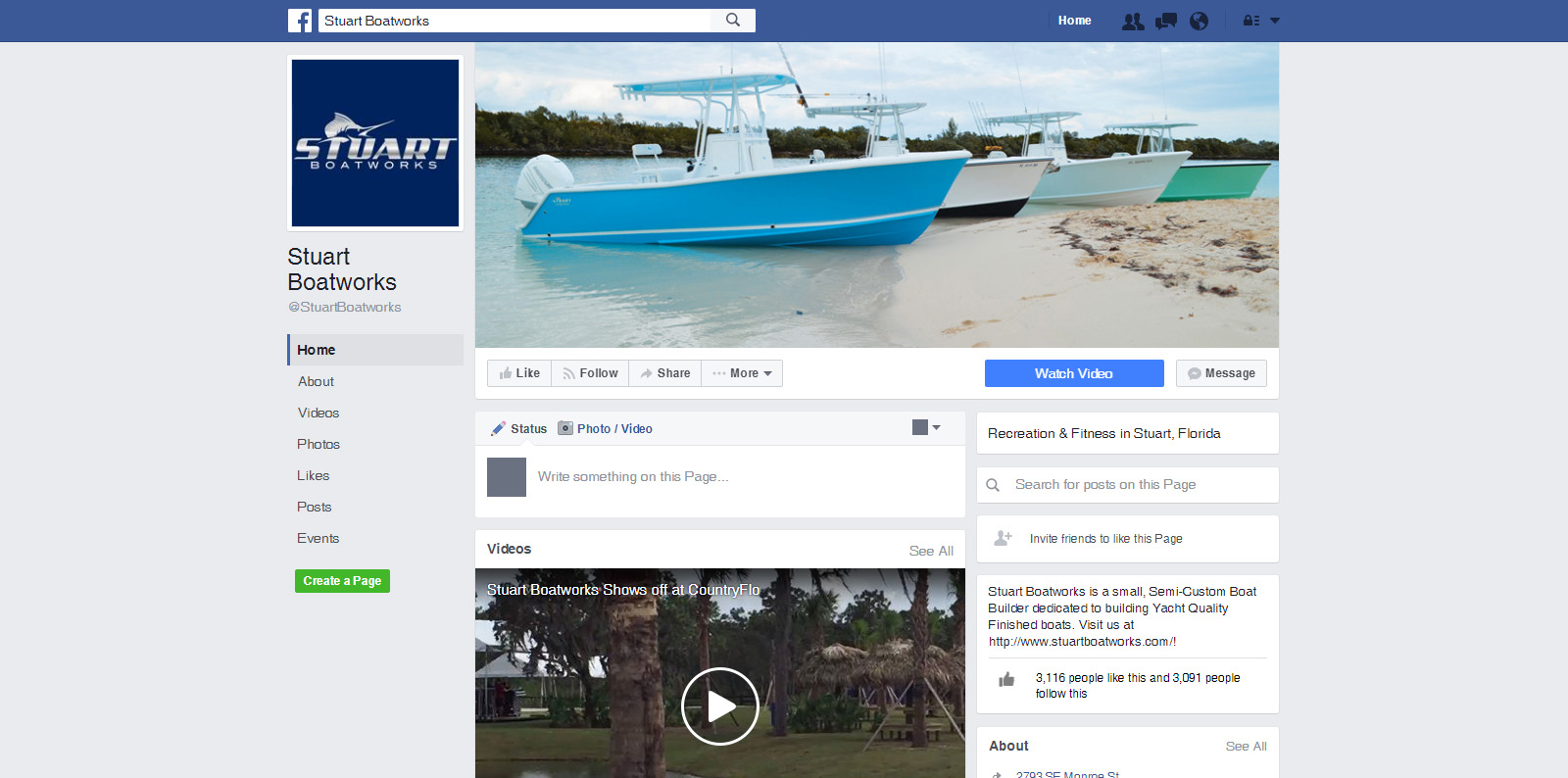 Stuart Boatworks - Social Media Marketing