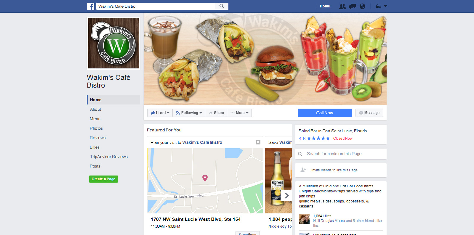 Wakim's Cafe Bistro - Social Media Marketing