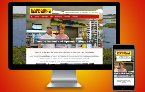 Website Designer Okeechobee - Garrard's Bait & Tackle