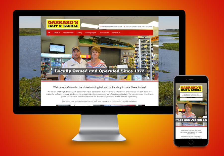Website Designer Okeechobee - Garrard's Bait & Tackle