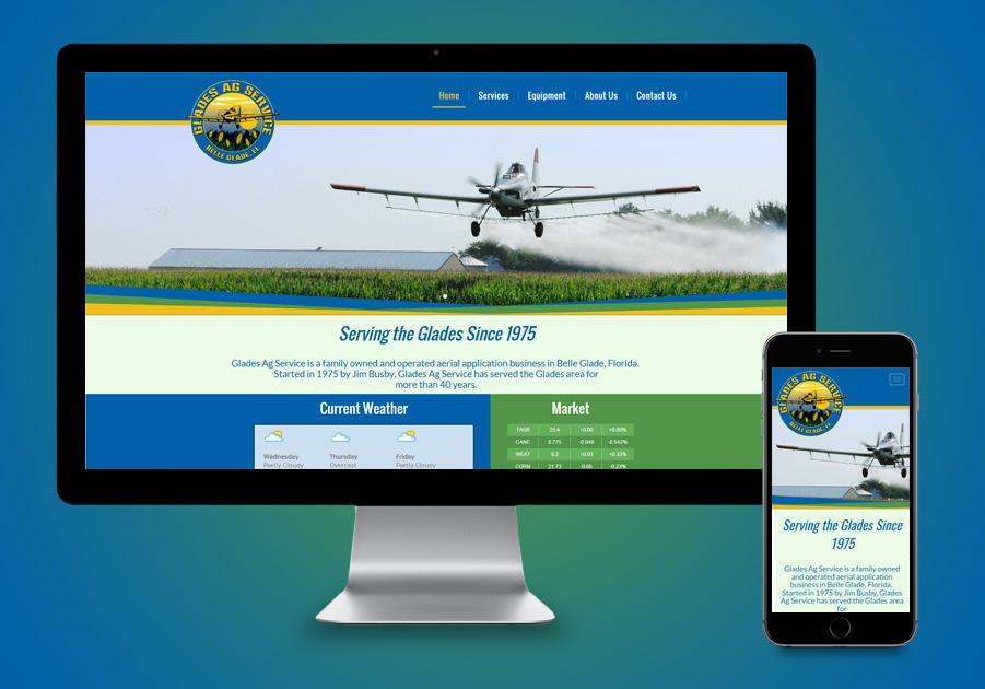 Website Design Belle Glades, FL - Glades AG Services
