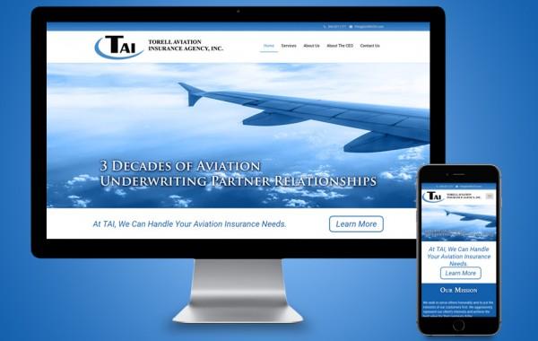 Palm Beach Website Designer - Torell Aviation Insurance