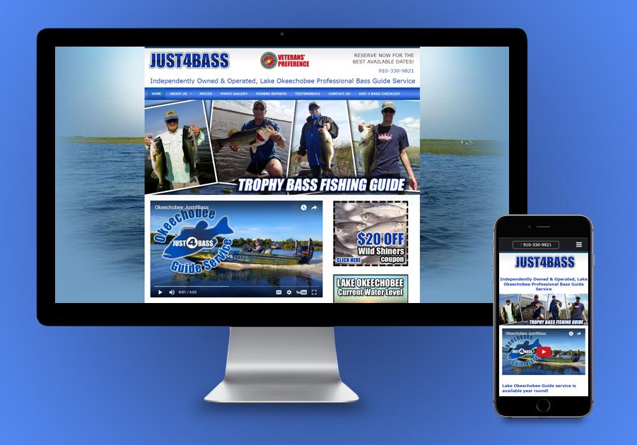 Okeechobee Website Design - Just 4 Bass