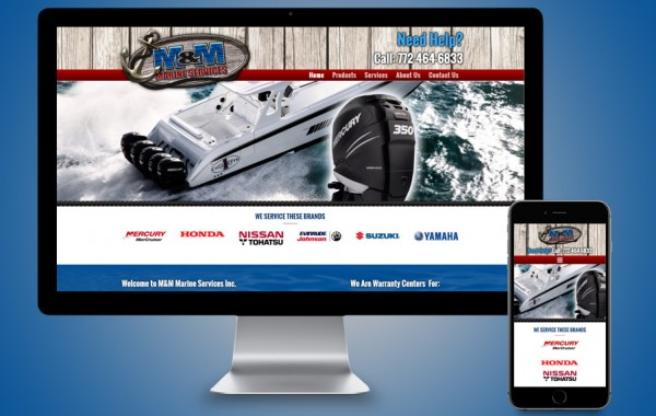 Website Design Fort Pierce, FL - M&M Marine