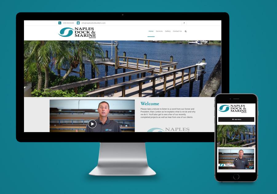 Website Design Naples, FL - Naples Dock & Marine