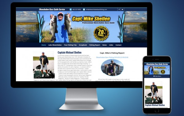 Website Design Okeechobee, FL - Okeechobee Bass Fishing