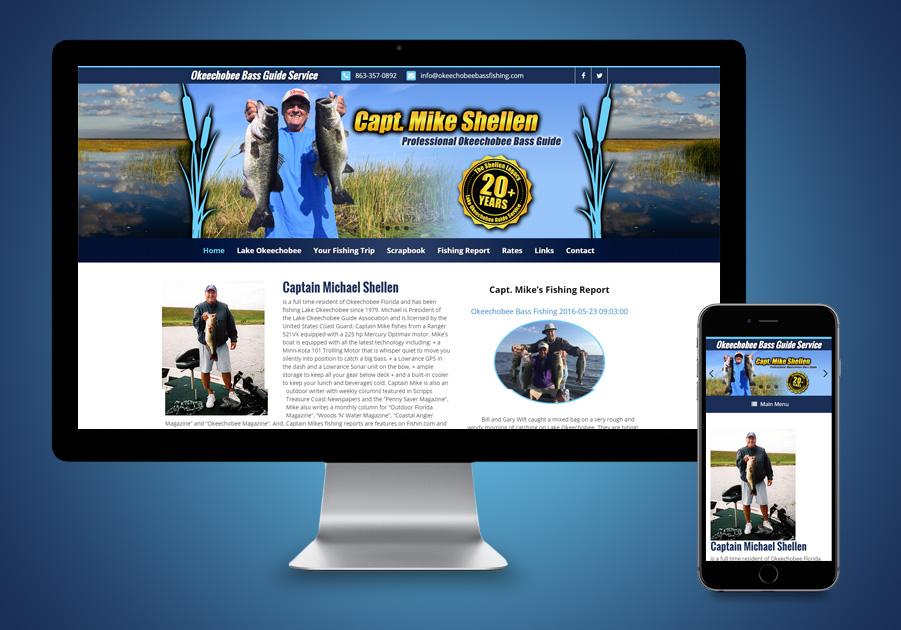 Website Design Okeechobee, FL - Okeechobee Bass Fishing