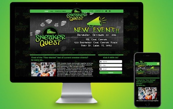 Website Development Treasure Coast - Sneaker Quest