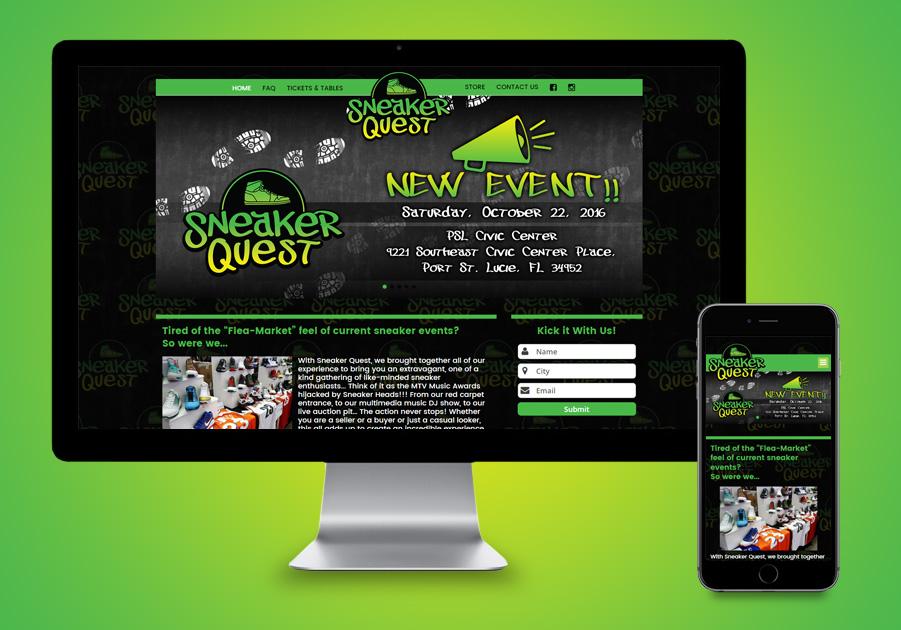 Website Development Treasure Coast - Sneaker Quest