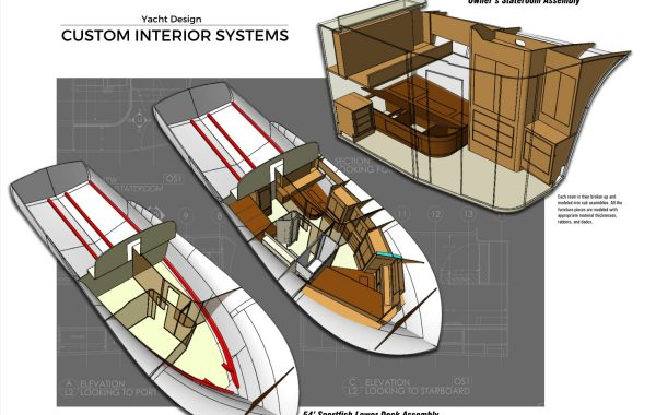 Yacht Design - Furniture Modeling - Florida