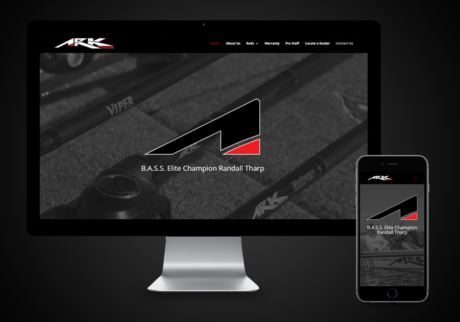 Website Design- ARK Rods