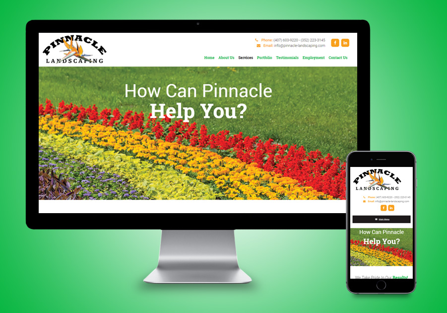 Website Design - Pinnacle Landscaping