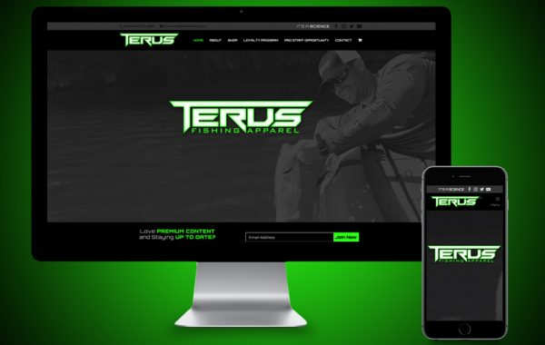 eCommerce Website Design - Terus Fishing Apparel
