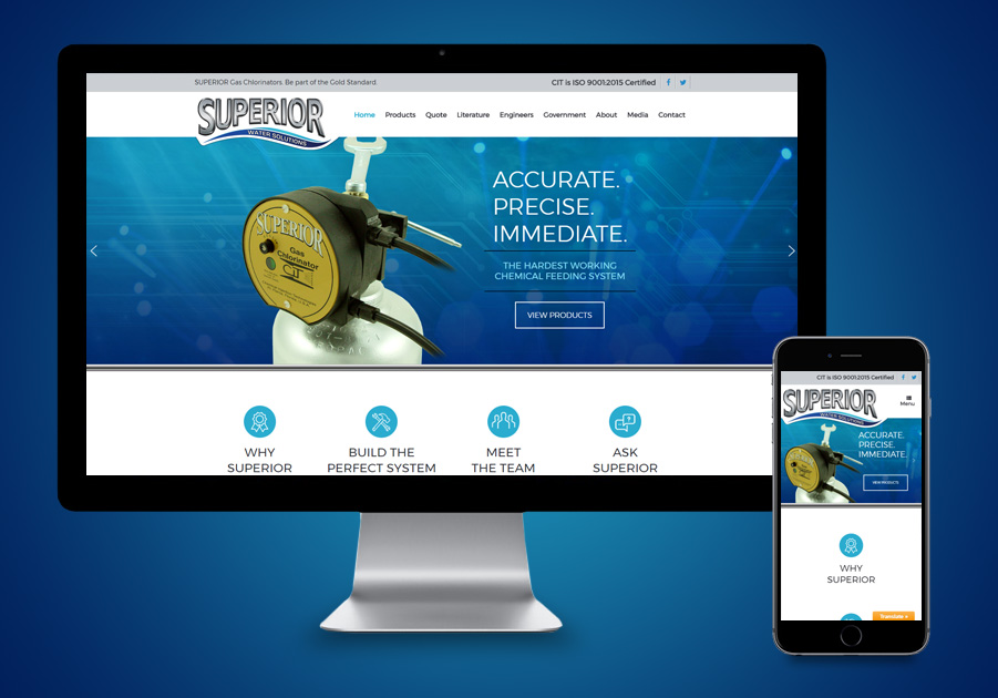Website Design - Superior Chlorinators
