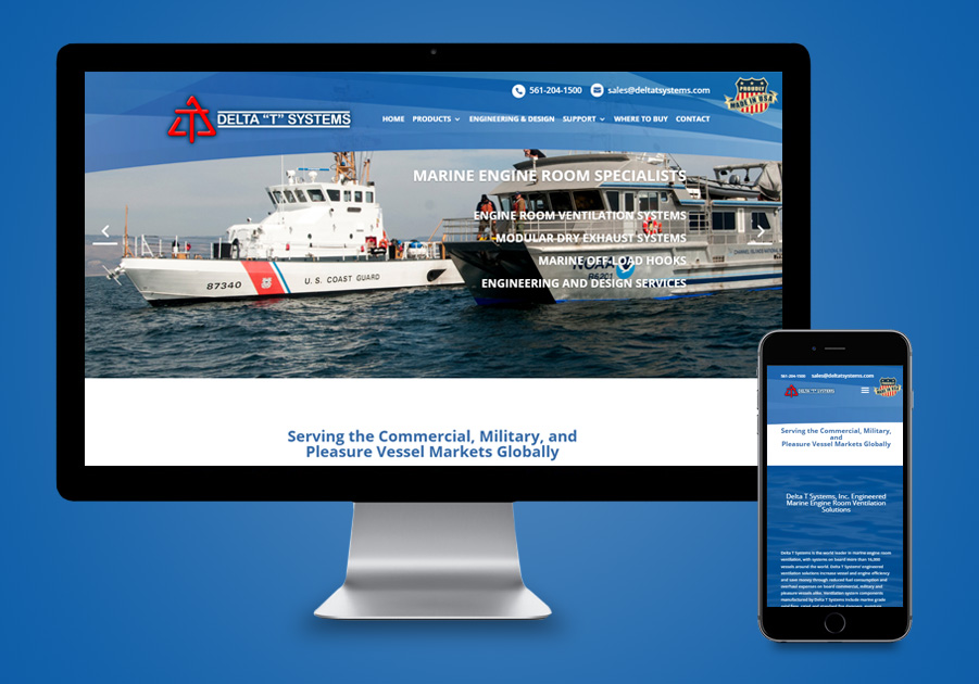 Website Design - Delta T Systems