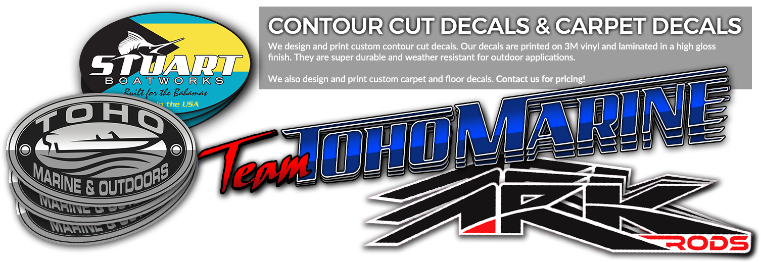 Contour Cut Decals & Carpet Carpet Decals