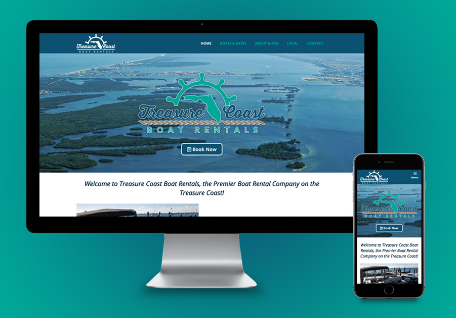 Website Design - Treasure Coast Boat Rentals