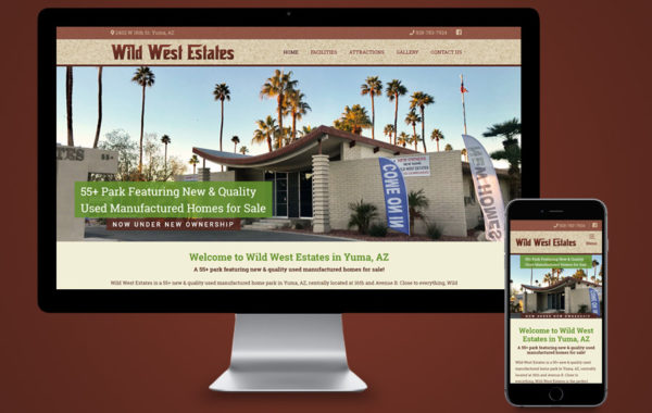 Website Design - Wild West Estates