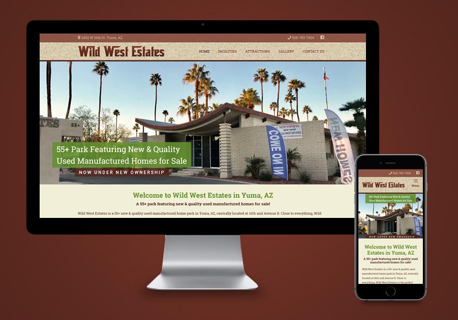 Website Design - Wild West Estates