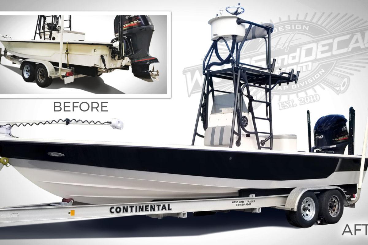 Boat Wrap PSL Florida