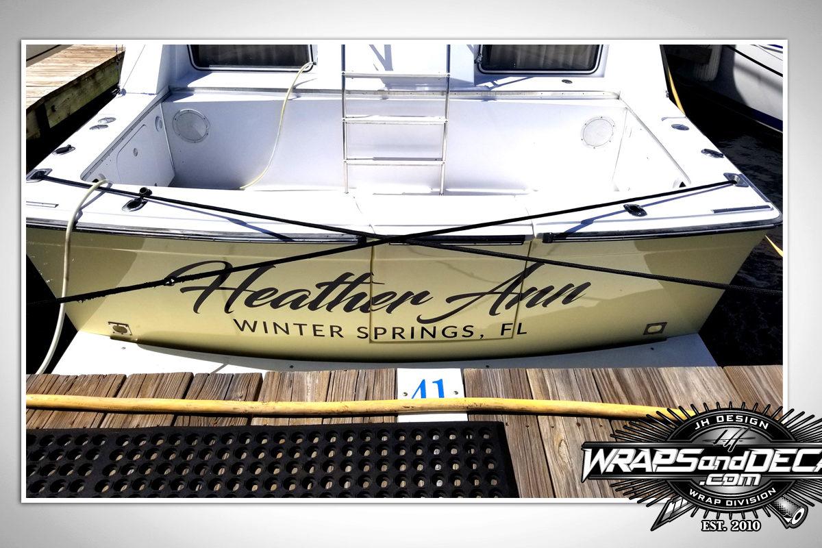 Boat Lettering Florida