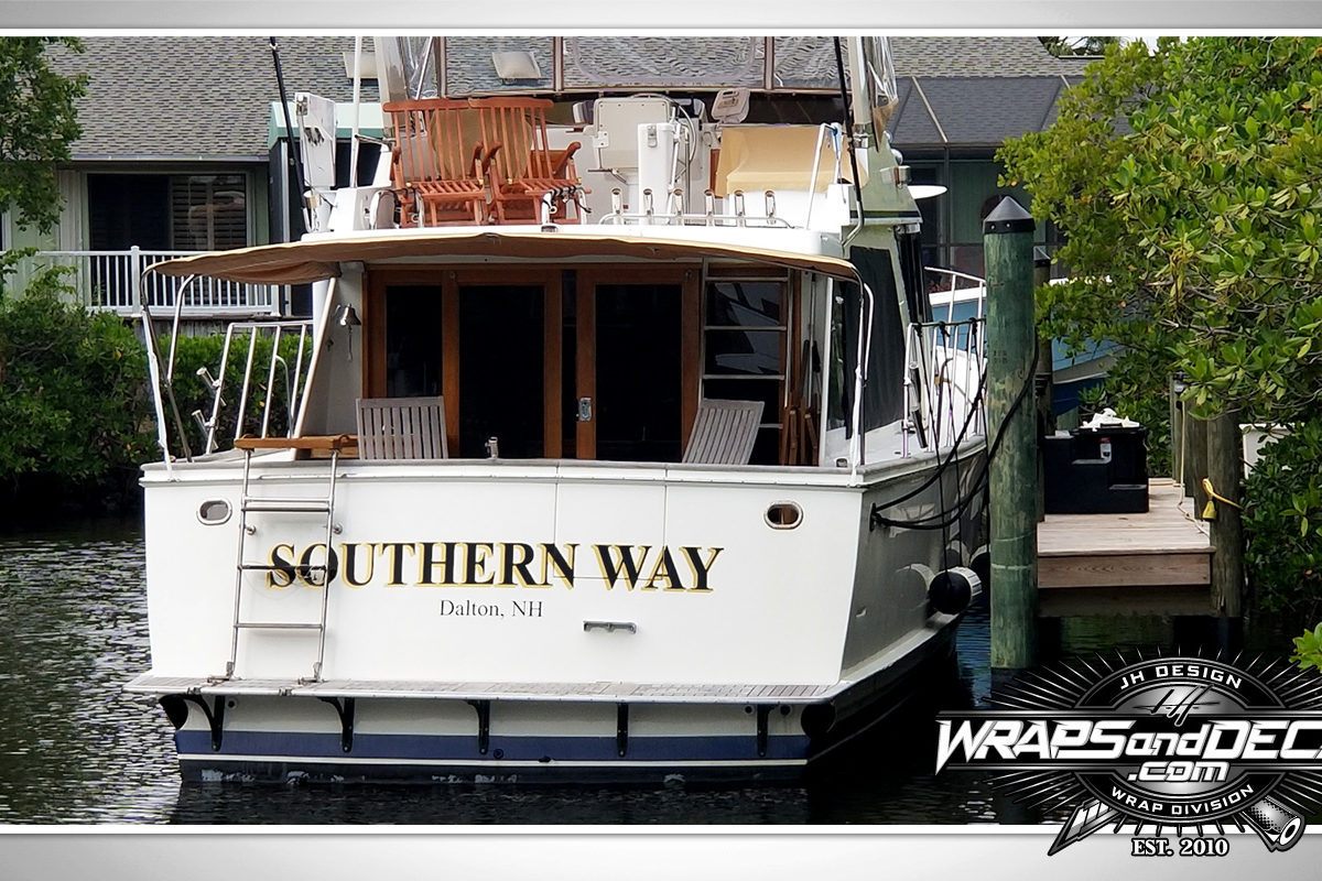 Transom Lettering Palm City