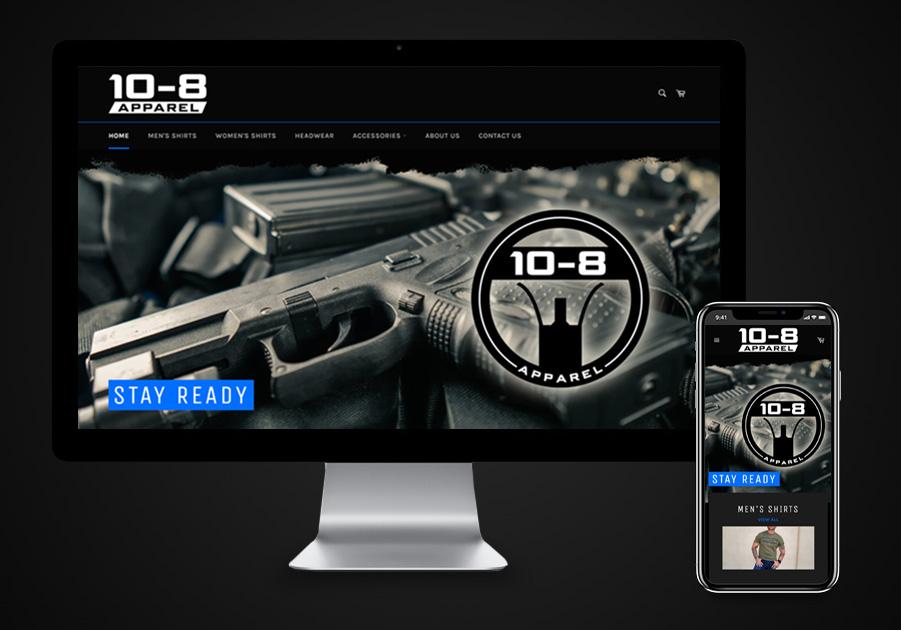 Website Design - 10-8 Apparel
