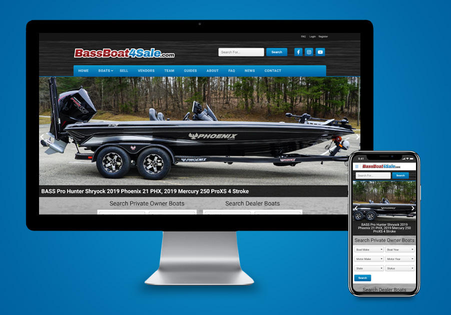 Website Design - BassBoat4Sale