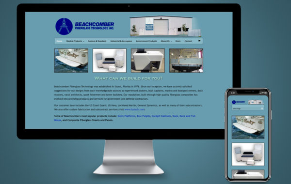 Website Design - Beachcomber Fiberglass