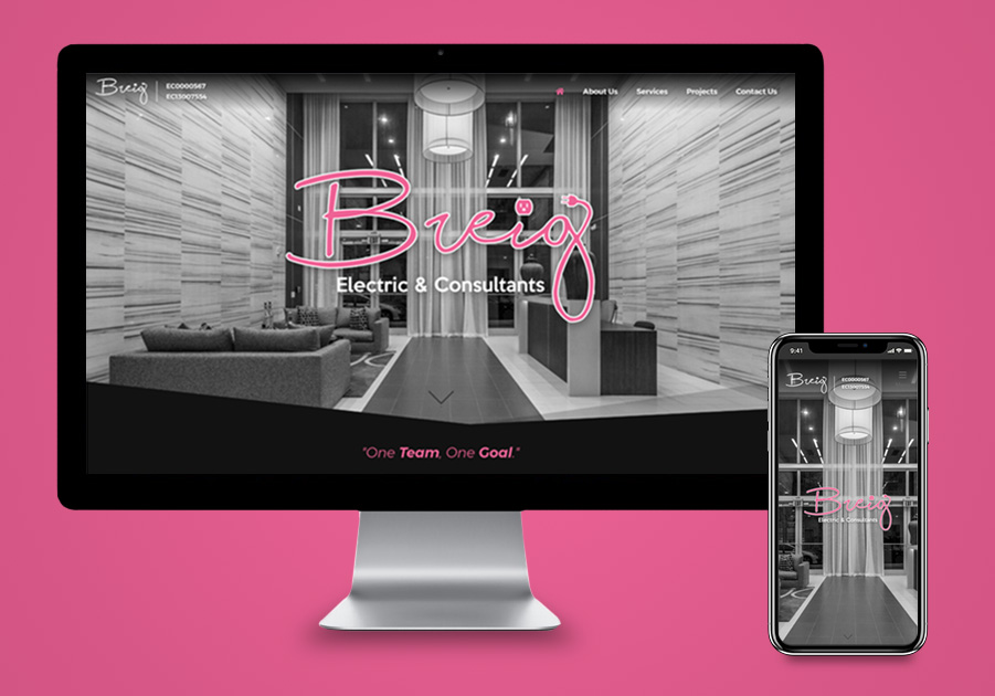 Website Design - Breig Electric