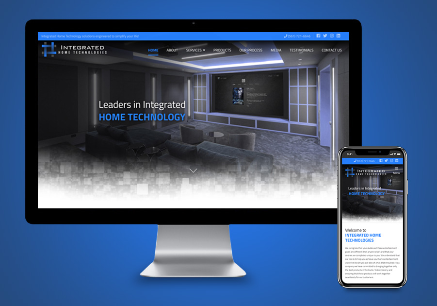Website Design - Integrated Home Technologies