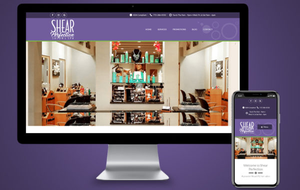 Website Design - Shear Perfection Salon and Spa